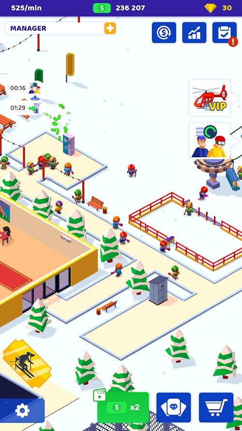 滑雪胜地游戏截图